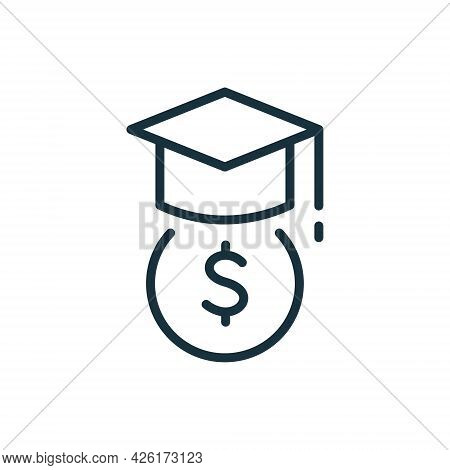 Student Support With Money. Charity And Donation Concept Icon. Affordable Education. Charitable Foun