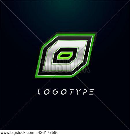 Letter O For Video Game Logo And Super Hero Monogram. Sport Gaming Emblem, Bold Futuristic Letter Wi