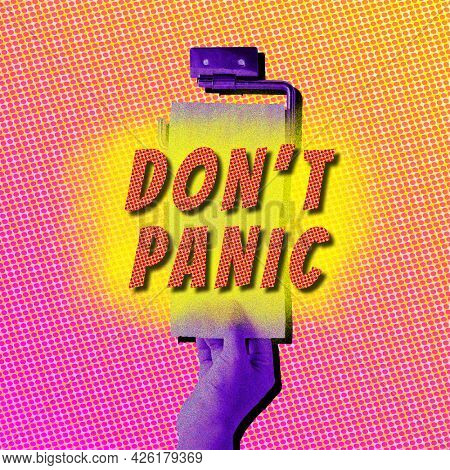 Don't panic stop hoarding toilet tissue during the coronavirus outbreak background