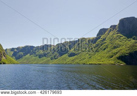 View Of Western Brook Pond In Newfoundland, Canada