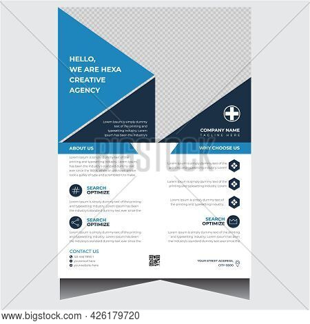 Company Blue And Dark Business Flyer Design Template
