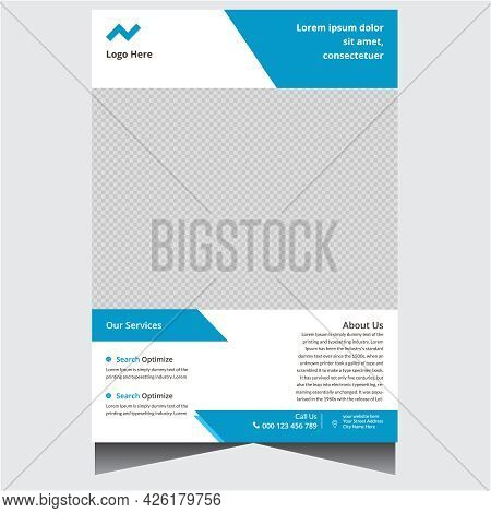 Blue And White Creative Agency Flyer Design Template