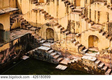 Panna Meena ka Kund stepwell in Amber, Jaipur, Rajasthan, India