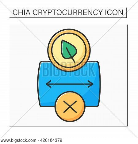 Cryptocurrency Color Icon. Chia Causes Storage Shortage. Hard Drive And Ssd Shortages.low Free Stora