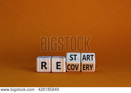 Recovery And Restart Symbol. Turned Cubes And Changed The Word 'recovery' To 'restart'. Beautiful Or
