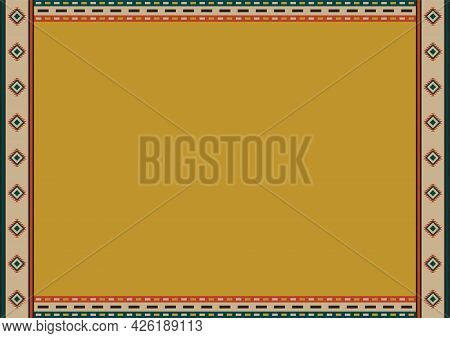 Ethnic Style Background. Mexican Tribal Patterns And Copy Space For Text. For Card, Restaurant Menu,