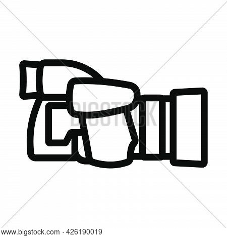 Icon Of Premium Photo Camera. Bold Outline Design With Editable Stroke Width. Vector Illustration.