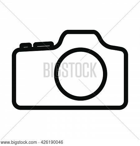 Icon Of Photo Camera. Bold Outline Design With Editable Stroke Width. Vector Illustration.
