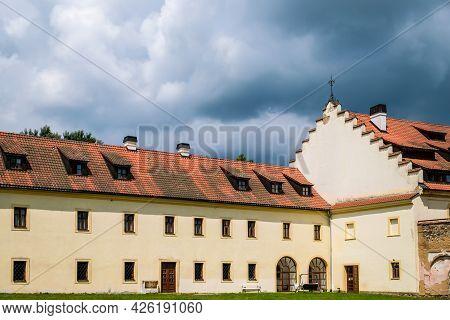 Tepla, Czech Republic - July 4, 2021:premonstratensian Monastery Of Tepla In The Western Bohemia, Cz