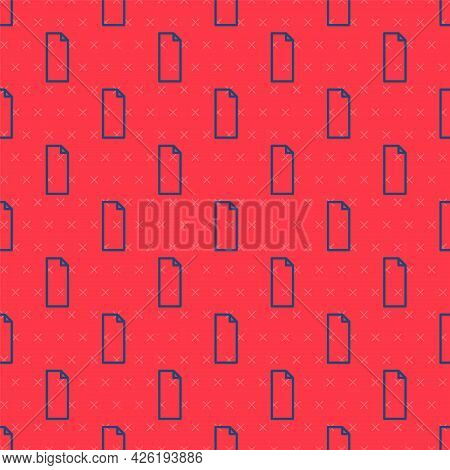Blue Line Grip Tape On A Skateboard Icon Isolated Seamless Pattern On Red Background. Vector