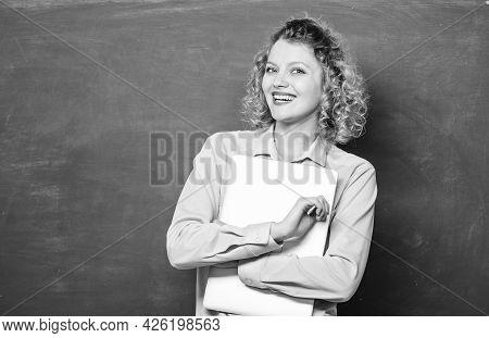 School Education Concept. Software For Teachers. Modern Education. School Lecturer Explaining Topic.
