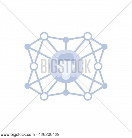 Connections And Influence Vector Icon With Man