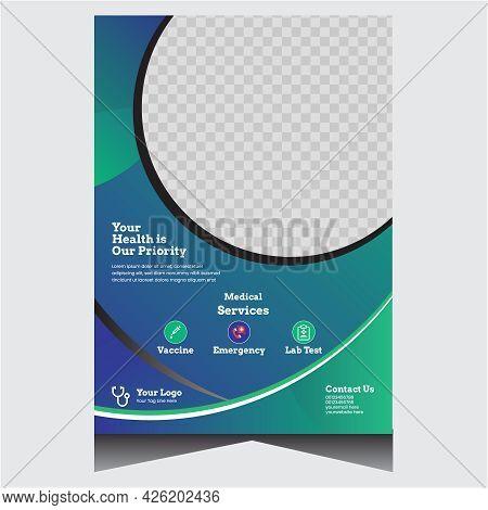 Blue Promotional Creative Medical Flyer Design Template