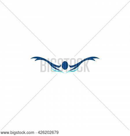 Swim. Swimming Icon  Logo Design Concept Illustration