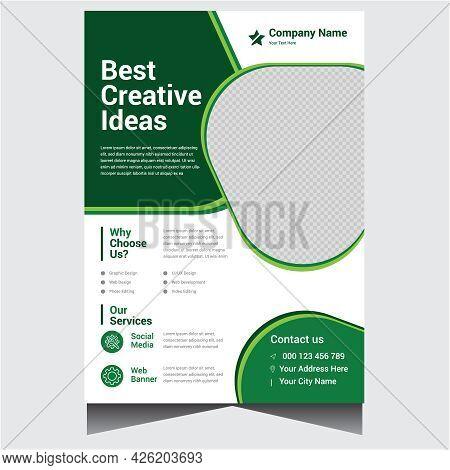 Simple Creative Business Flyer Design Template Vector