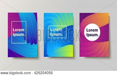 Set Of Backgrounds With Trendy Design. Applicable For Covers, Placards, Posters, Fliers And Other.