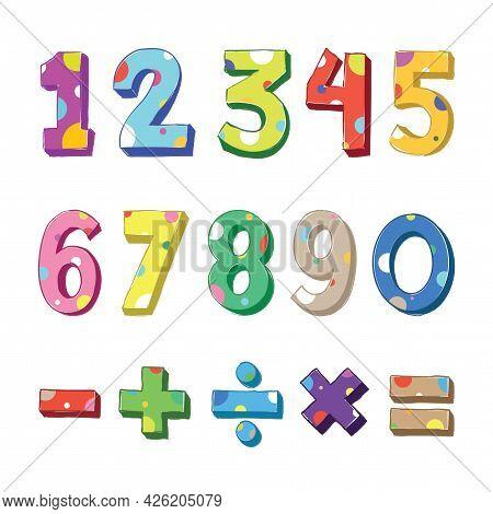 Cartoon Doodle Numbers