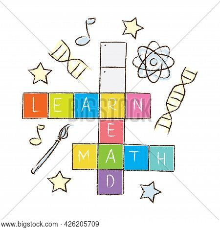 Educational Words Scrabble Tile