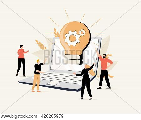 Cooperation And Teamwork Abstract Concept Vector Illustration Set. Crowdfunding And Partnership, New
