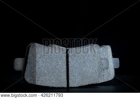 Vehicle Parts. Auto Motor Mechanic Spare Or Automotive Piece On Dark Background. New Metal Car Part.