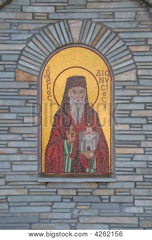 Religious Icon At Agios Nickolaos Church In Litochoro, Greece