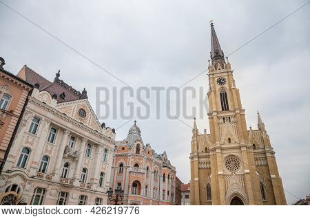 The Name Of Mary Church, Also Known As Novi Sad Catholic Cathedral Or Crkva Imena Marijinog During A