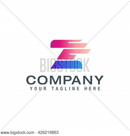 Z Letter Logo With Wing. Wing Logo With Z Letter Concept