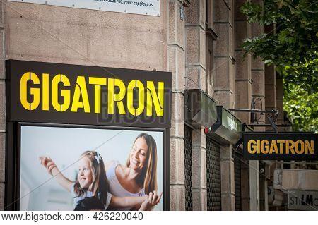 Belgrade, Serbia - July 4, 2021: Gigatron Logo In Front Of Their Shop For Belgrade. Gigatron Srbija