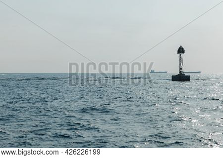 Beacon Marks The Border Of Ships Fairway To Jeddah Port. Persian Gulf, Saudi Arabia