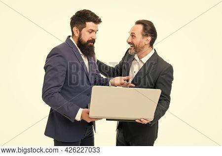 Web Site Concept. Seo Success Factors. Online Entrepreneurship. Men Working Laptop. Web Pages Conten