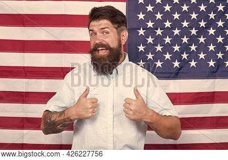 Patriotism. Successful Trip To Usa. Patriotic And National Glory. English Studying Speak. Express Pu