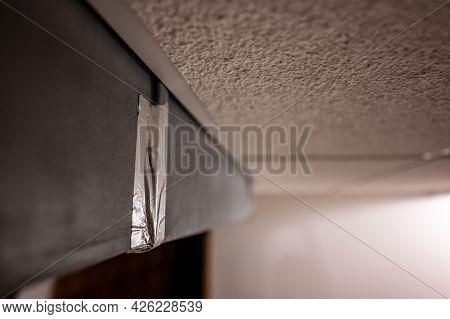 Metallic Aluminum Foil Tape Covering Hvac Duct Connection Joint