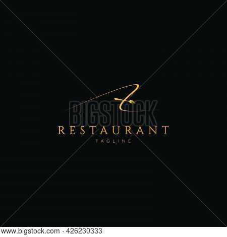 The Restaurant's Letter A Initials Logo Design Is Unique And Luxurious