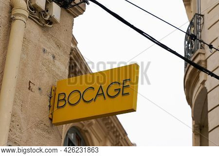 Montpellier , Ocitanie France  - 06 30 2021 : Bocage Logo Brand And Text Sign Of Fashion Store Fashi
