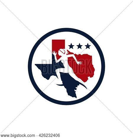Marathon Running Sports Logo Design In Texas