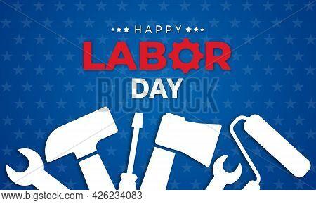 Happy Labor Day. Design Template. Vector Illustration
