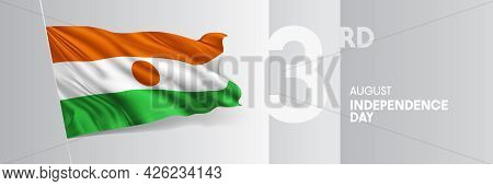 Niger Happy Independence Day Greeting Card, Banner Vector Illustration