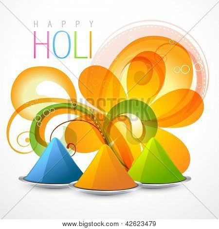 beautiful colorful background of holi festival with gulal