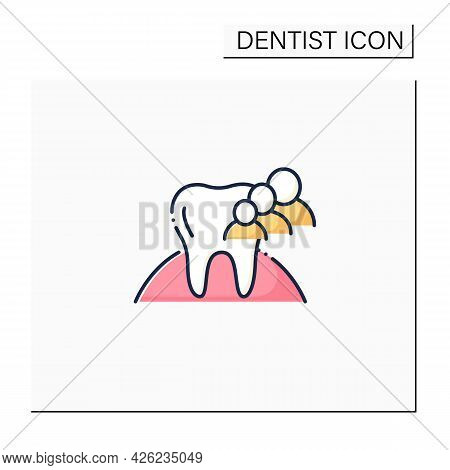 Family Dentistry Color Icon.focuses On Health, Oral Hygiene Of Teeth.common Treatments Include Cavit