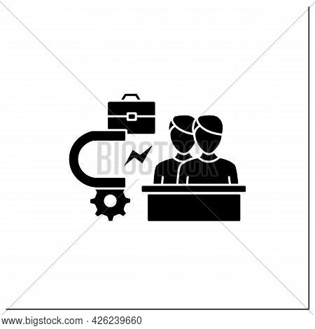 Attracting Employees Glyph Icon. Inviting New Workers Into Company. Fresh View. Attract Best, Talent