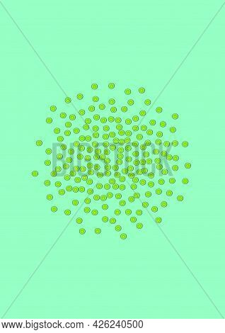 Juicy Lime Background Green Vector. Health Decoration. Sunny Lime Repeat. Piece Sunny Illustration.
