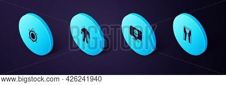 Set Isometric Wetsuit For Scuba Diving, Scallop Sea Shell, And Turtle Icon. Vector