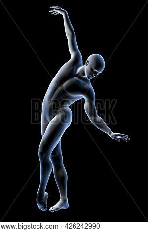 Anatomy Of Dancing And Ballet, 3D Illustration