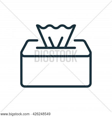 Package Of Napkins Linear Icon. Wet Tissue Wipes Icon. Disinfectant Napkin Pack Line Pictogram. Hand