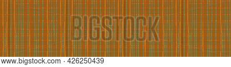 Burlap Texture Ribbon Border Vector Seamless Border. Canvas Textured Banner Earthy Brown Sage Green