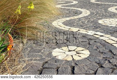 Azores, Sao Miguel Island, Typical Mosaic Pavement, Patterns.