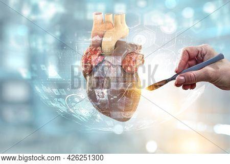 Moderm medicine. Cardiology . Mixed media