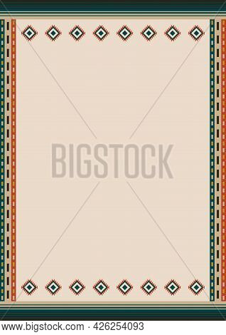 Ethnic Style Background. For Card, Restaurant Menu, Banner, Flyer. South Western Style Ornament. Mex