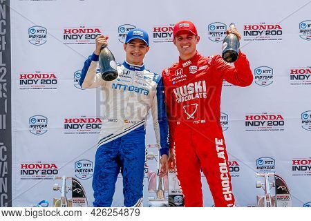 July 04, 2021 - Lexington, Ohio, USA: MARCUS ERICSSON (8) of Kumla, Sweden  comes in second for the Honda Indy 200 at Mid-Ohio at Mid Ohio Sports Car Course in Lexington, Ohio.