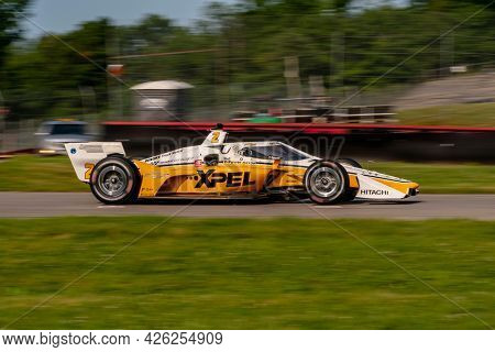 July 03, 2021 - Lexington, Ohio, USA: JOSEF NEWGARDEN (2) of the United States practices for the Honda Indy 200 at Mid-Ohio at Mid Ohio Sports Car Course in Lexington, Ohio.